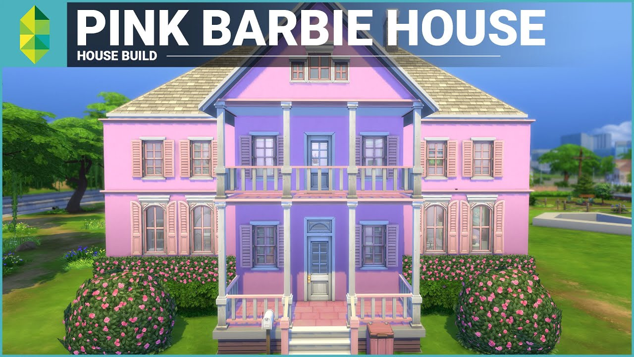 The Sims 4 House Building Pink Barbie House Youtube