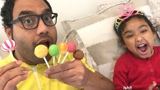 Ishfi and Daddy Play and Learn Color with Lollipop
