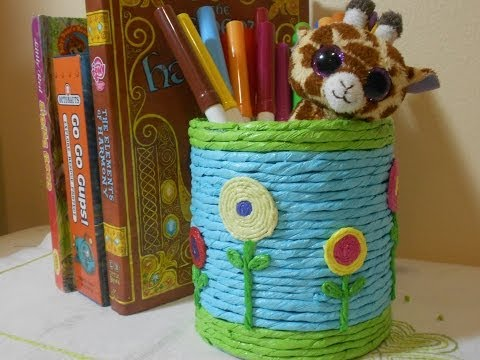 How to Make Recycle Pen-Pencil Holder with Used Can Travel Video