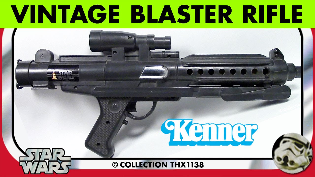 STAR WARS BLASTER RIFLE Vintage Kenner 3-Position Toy, Box & Catalog Pics  1978 | Collection THX1138
