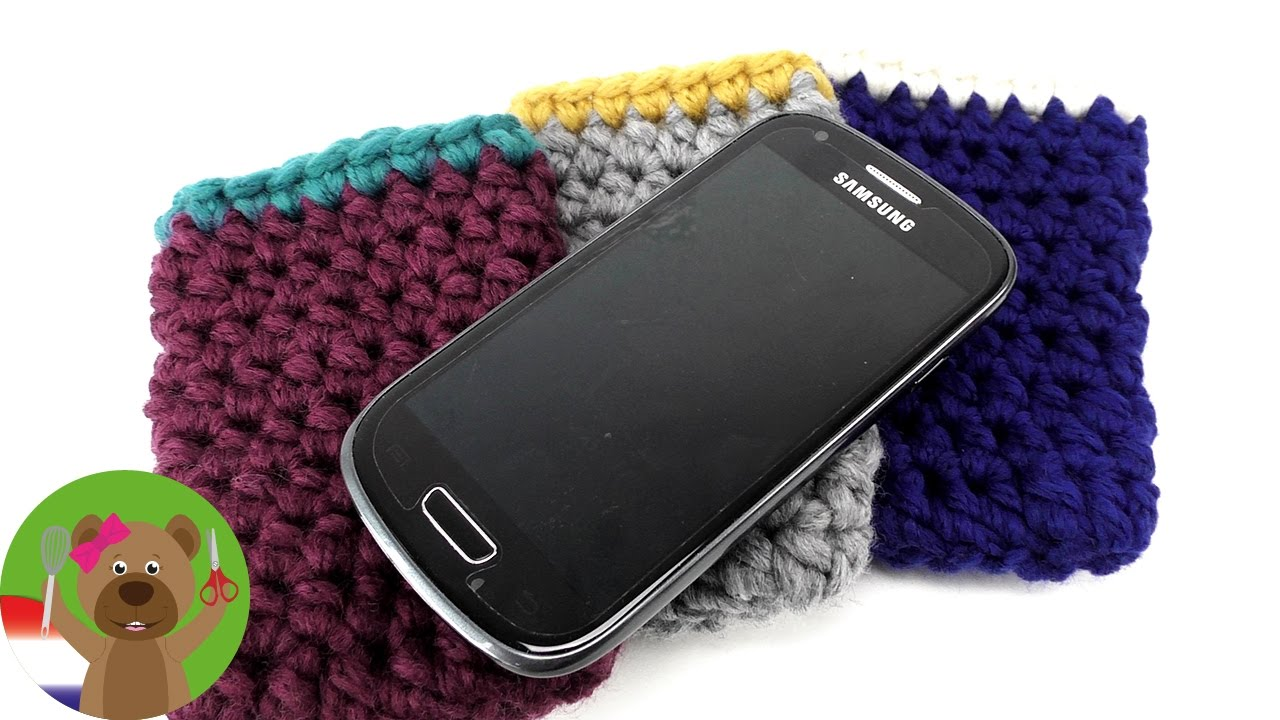 Telefoonhoesje Maken Van Wol Telefoonhoesje Haken Simpel Voor Alle