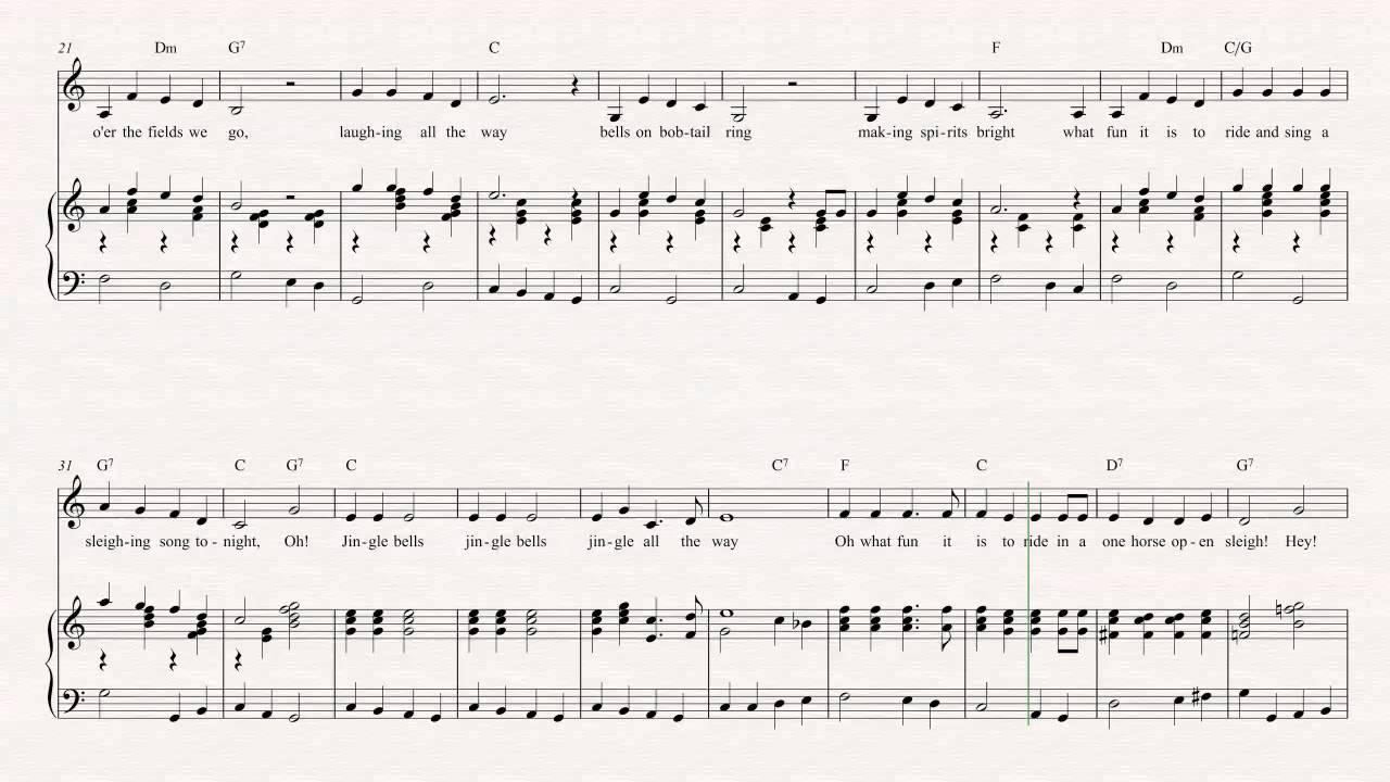 Flugelhorn - Jingle Bells - Christmas Sheet Music, Chords, & Vocals ...