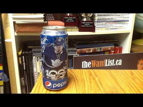 2017-18 Pepsi can Auston Matthews (Toronto Maple Leafs) AM34