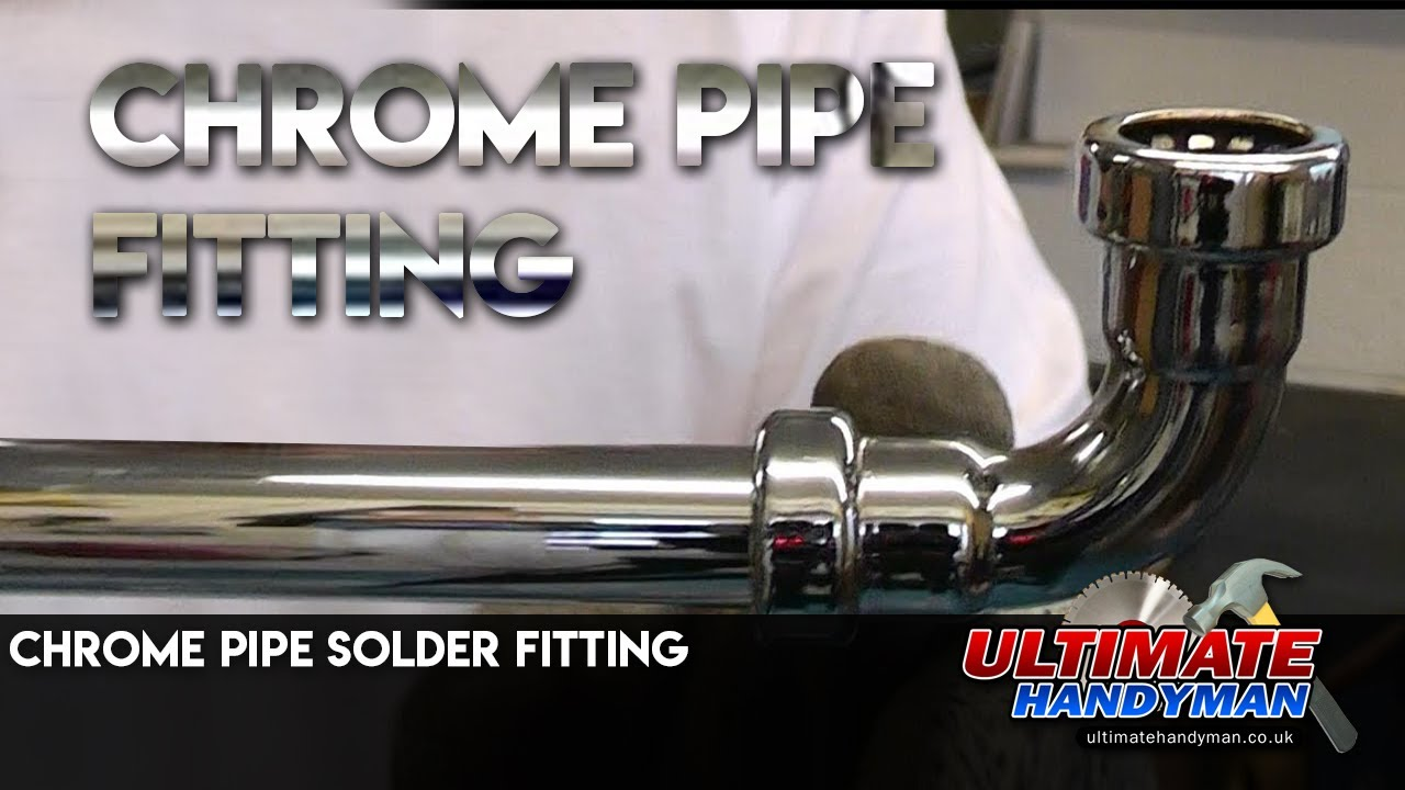 Chrome Pipe Solder Fitting Chrome Pipe Push Fit Youtube