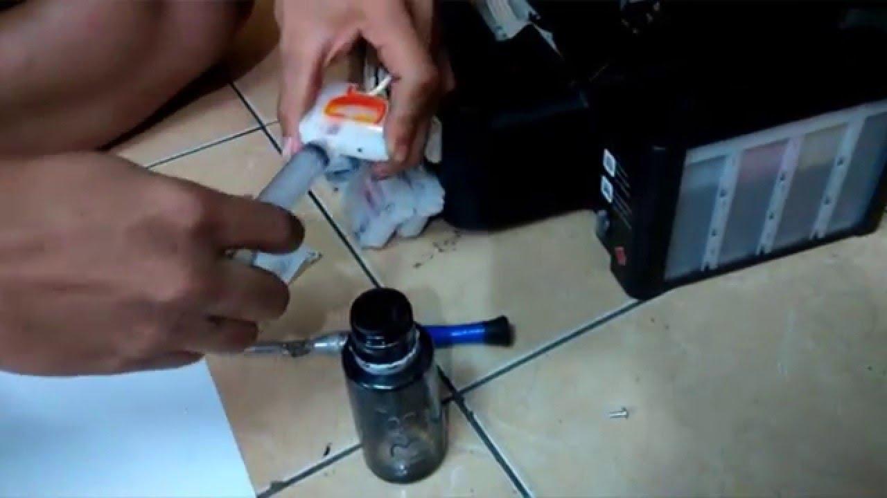 Mengatasi Tinta Macet Epson L350 Youtube