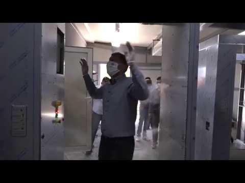 Corten Art - Tunel za dezinfekciju - poseta gradonačelnika Šapca