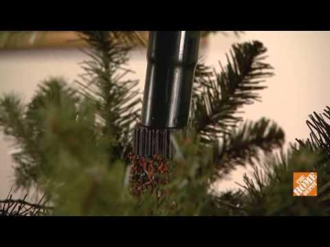 pre lit christmas tree hook up
