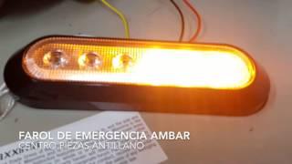 Farol LED Ambar Emergencia MAXM20386YCL