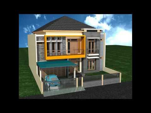 Desain Rumah Minimalis 2 Lantai 8 X 12 Youtube
