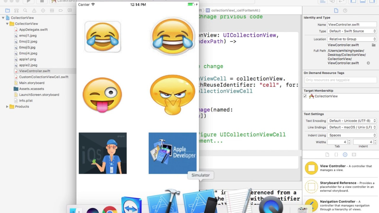 UICollectionView 3 : Create CustomCell for UICollectionViewCell using Xcode  8 2 1 and Swift 3 0