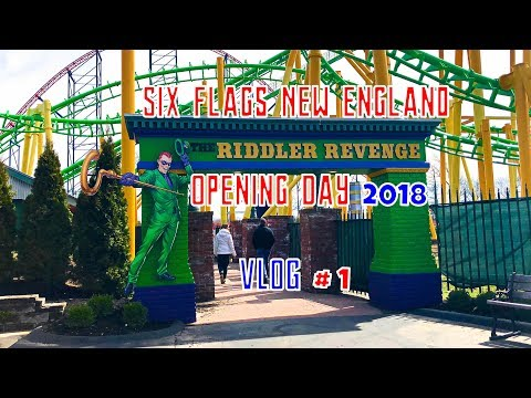 Six Flags New England Opening Day 2018 : VLOG # 1