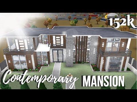 Bloxburg Hillside Contemporary Mansion House Build Roblox