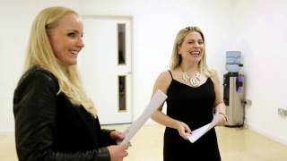 Kerry Ellis and Louise Dearman in rehearsals
