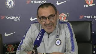 #Chelsea vs Crystal Palace   Maurizio Sarri Pre Match Press Conference   Premier League
