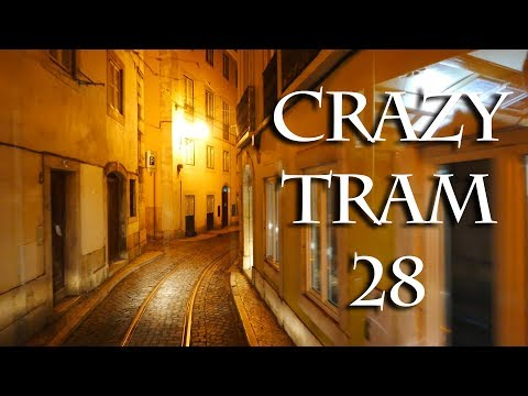 Taking Lisbon's Tram 28 At Night - Like A Roller Coaster