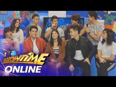 It's Showtime Online:  JC, Jane and Gab bravely answer questions in 'Usapang Halik'