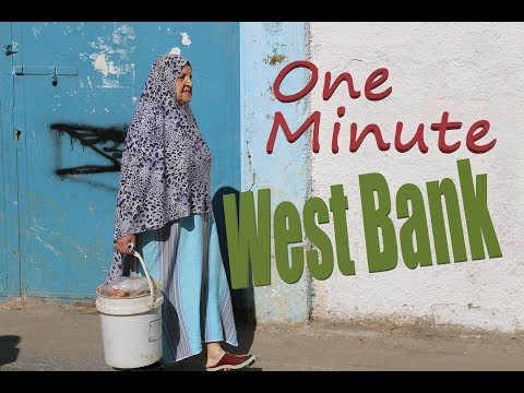 West Bank (Palestine) in one minute: Bethlehem, Hebron and Palestinian refugee camp