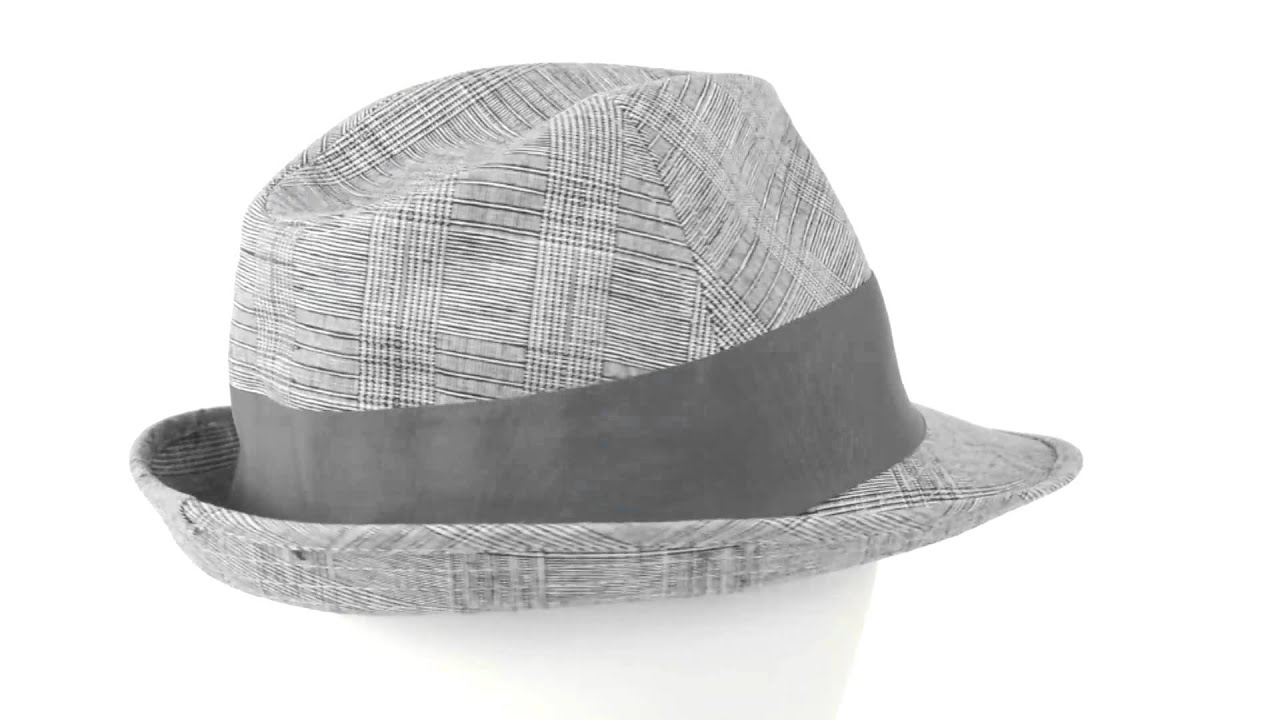 e1e90743 Stetson Plaid Fedora Hat - Linen-Cotton (For Men) - YouTube
