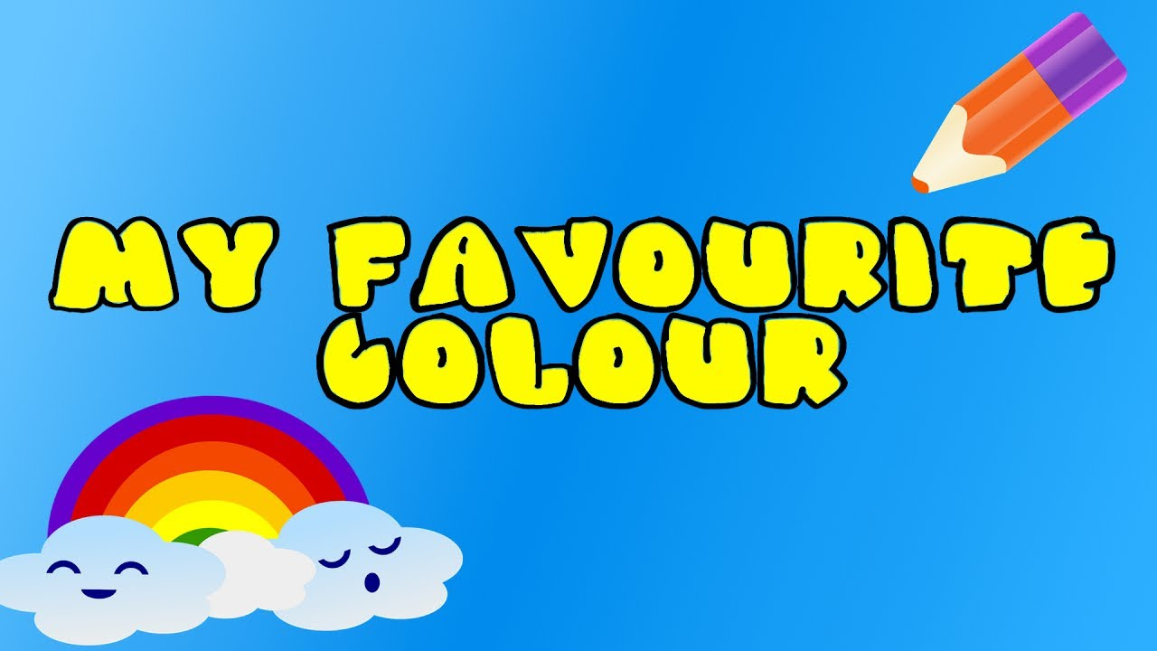 childrens color song learn all the colors my