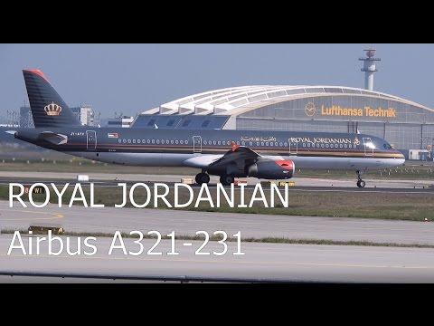 Royal Jordanian Airbus A321-231 Depature from Frankfurt Airport [Close-up]