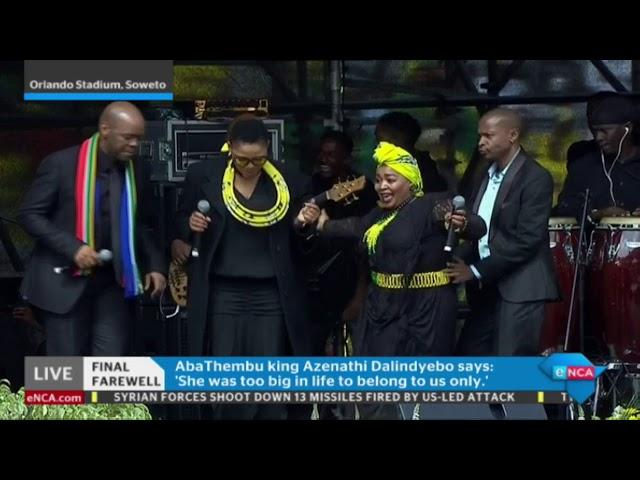 Dorothy Masuka's tribute to Mam Winnie