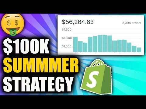 How To Make $100k This Summer 2019 | Shopify Aliexpress Dropshipping thumbnail