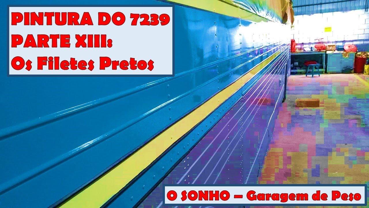 (AnoXX Ep70) A PINTURA DO 7239 Parte XIII:  Os filetes Pretos