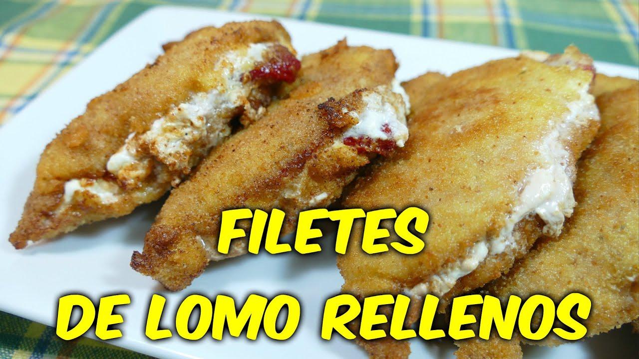 Filetes de Lomo Rellenos receta fcil YouTube