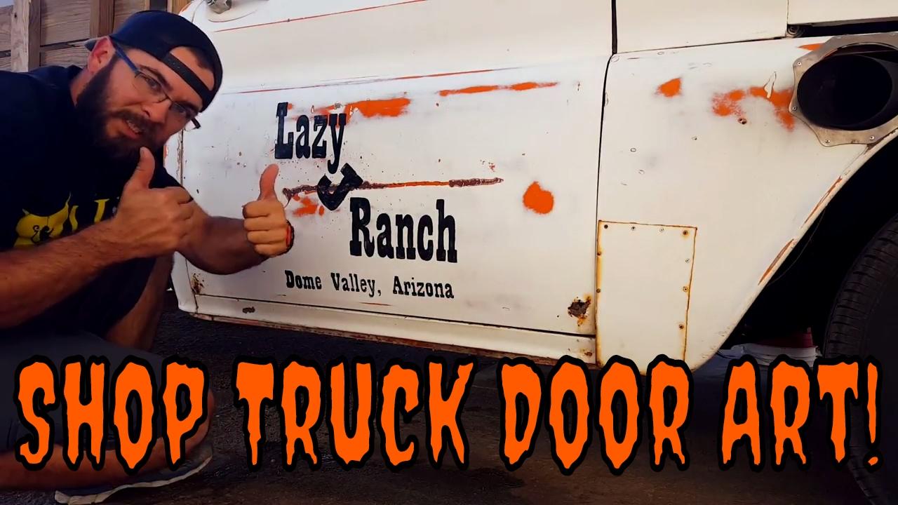 Rat Rod Truck Rustic Door Art