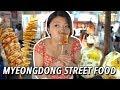 Lagu KOREAN STREET FOOD in Myeongdong 🧀🥔 Seoul Night Market Street Food Tour