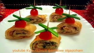 Вкусные закуски из блинов - Праздничный стол & Простые рецепты - Быстрые закуски