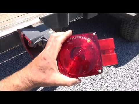 replacing a broken trailer tail light