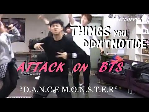 BTS THINGS YOU DIDN'T NOTICE IN ATTACK ON BTS DANCE PRACTICE