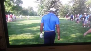 Tiger Woods swearing at the camera crew