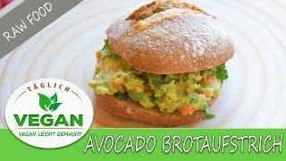 Avocado Brotaufstrich | Rohkost | Avocado RAW Rezept Dip | easy and fast | leicht und schnell