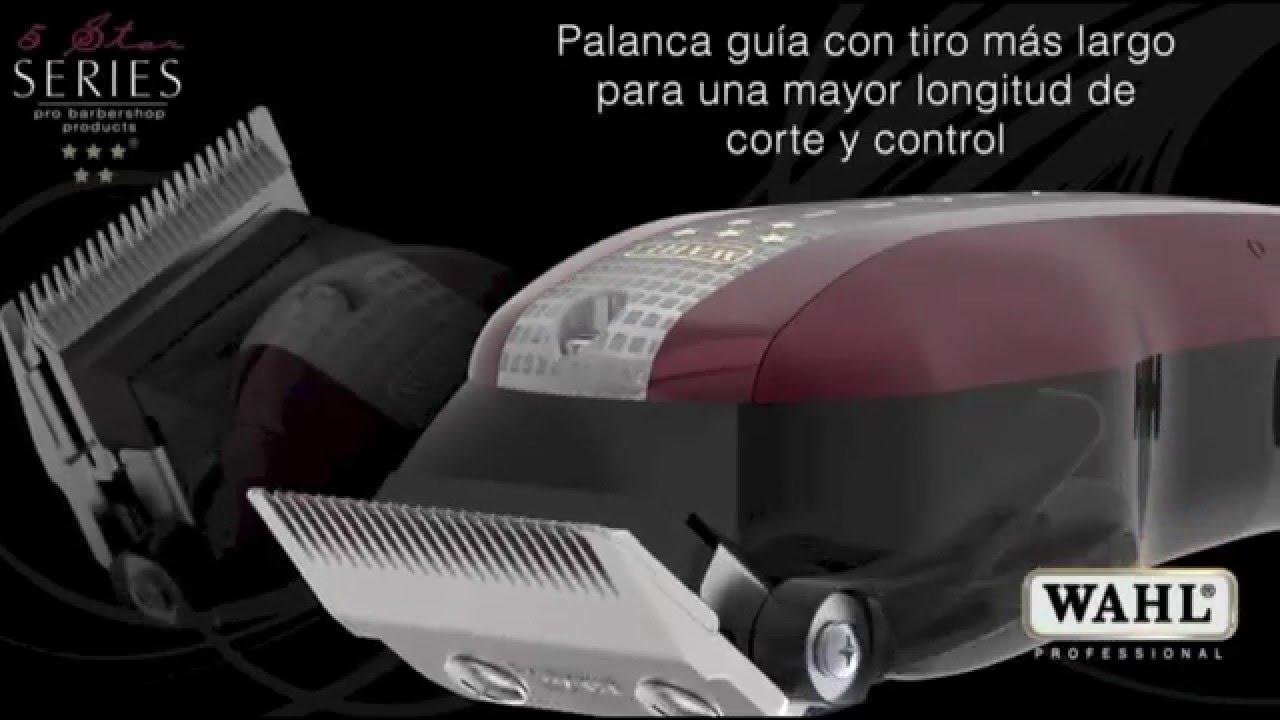 Wahl Legend 5 Star España 8 peines Máquina Profesional - YouTube fd040adb5b1a
