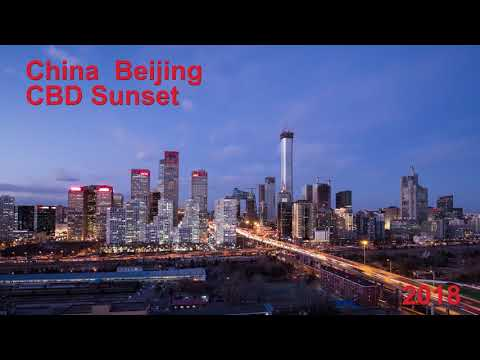 2018 China Beijing CBD Sunset Perfect