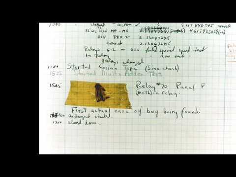 9th September 1947: Moth 'bug' discovered inside a Harvard computer