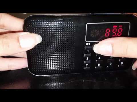 Mifine Mini Digital AM/FM Pocket Radio Fashion Stereo Sound Portable Speaker
