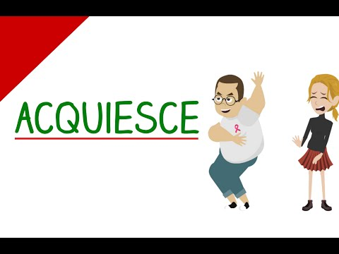 Learn English Words - Acquiesce (Vocabulary Video)