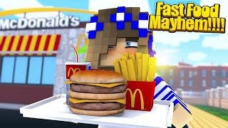 PORTAL VS PORTAL | FAST FOOD MAYHEM | Little Carly Plays.