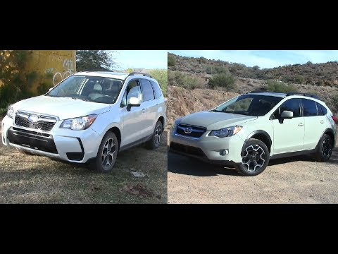 2014 subaru forester vs subaru xv crosstrek youtube. Black Bedroom Furniture Sets. Home Design Ideas