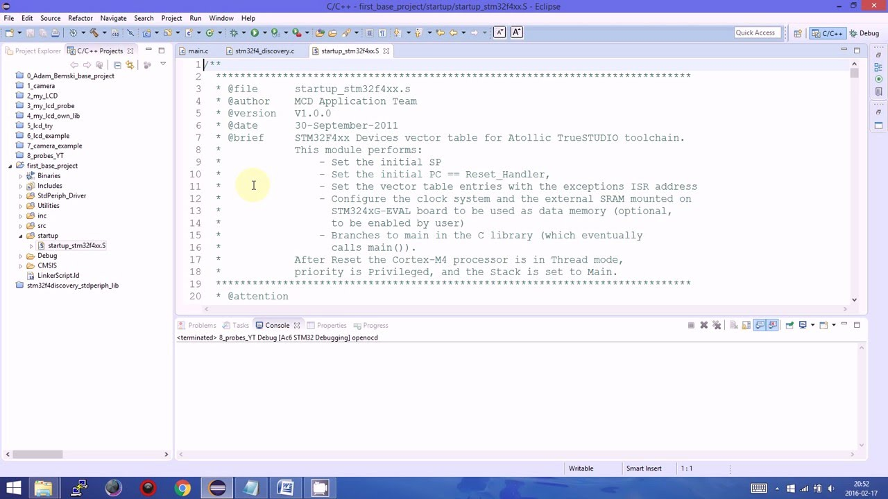 Creating base project - System Workbench for STM32 - work and running -  SW4STM32 Ac6 - Part 3