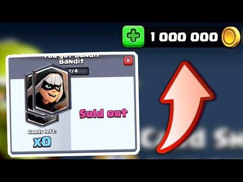 Clash Royale - ONE MILLION GOLD! Bandit Shop Buy