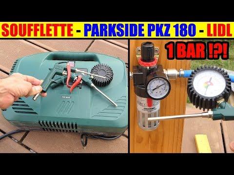 lidl compresseur parkside pkz 180 test soufflette compressor kompressor compressore. Black Bedroom Furniture Sets. Home Design Ideas