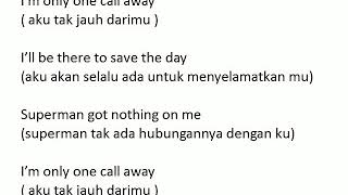 Lirik lagu one call away