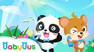 ❤ I Love Drinking Water | Animation For Babies | BabyBus | Baby Panda