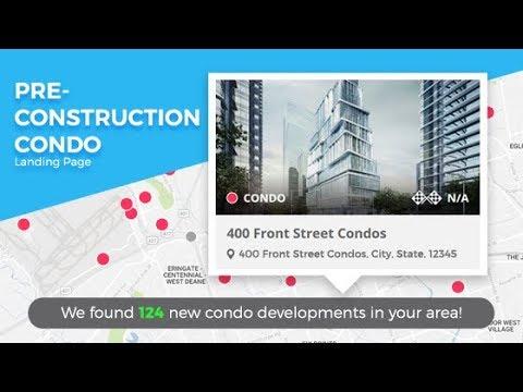 InCom Real Estate Website Preconstruction Condo Landing Page