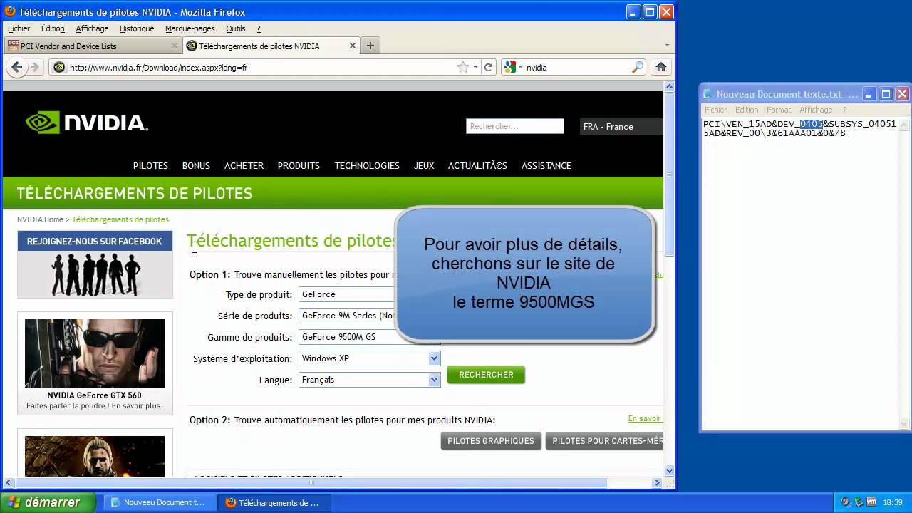 controleur video compatible vga xp pilote gratuit