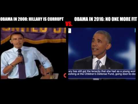 Obama on Hillary Clinton in 2008 Versus Now in 2016 - LOST CLIPS